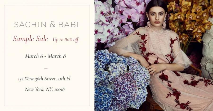 Sachin And Babi Sample Sale Sample Sale In New York